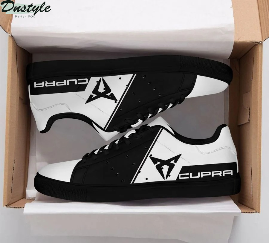 Cupra black and white stan smith low top shoes