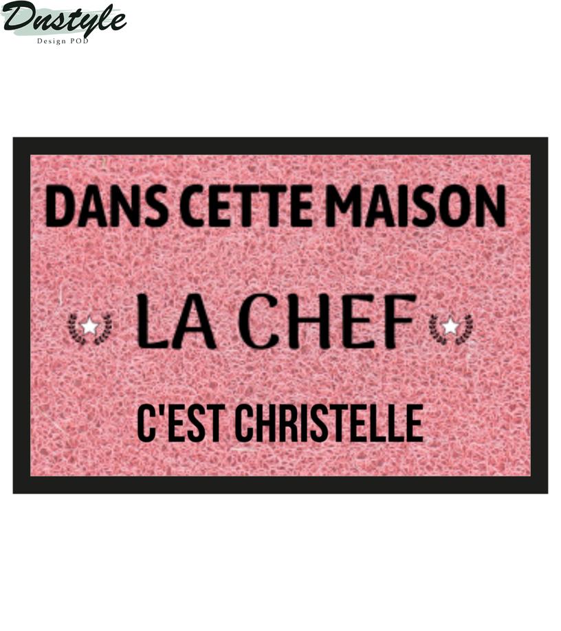 DANS CETTE MAISON LA CHEF PERSONNALISABLE DOORMAT 1