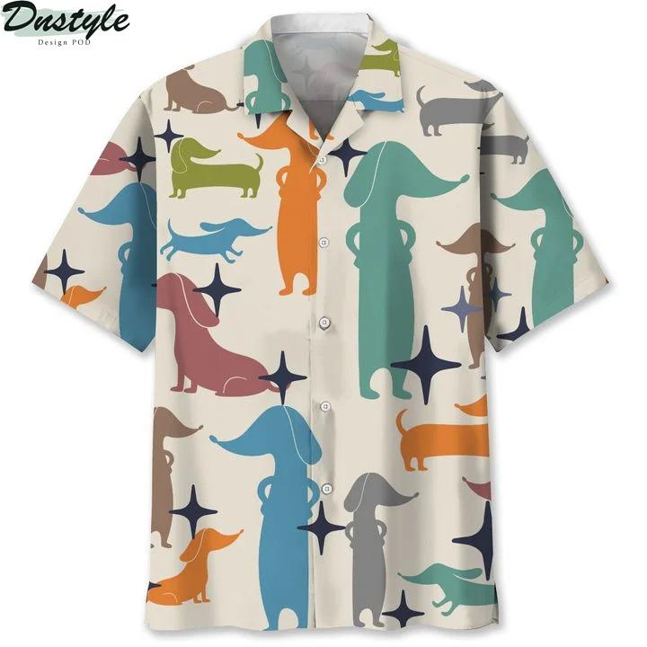 Dachshund hawaiian shirt