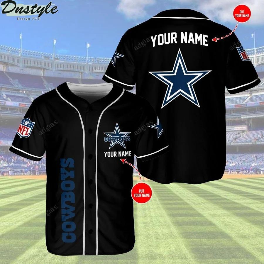 Dallas Cowboys personalized custom name baseball jersey