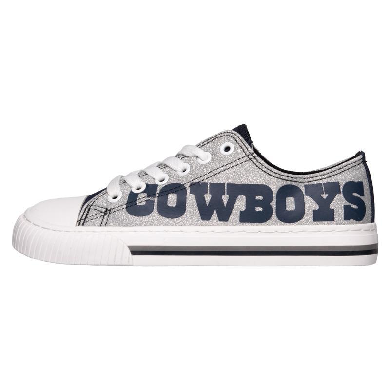 Dallas cowboys NFl glitter low top canvas shoes 1
