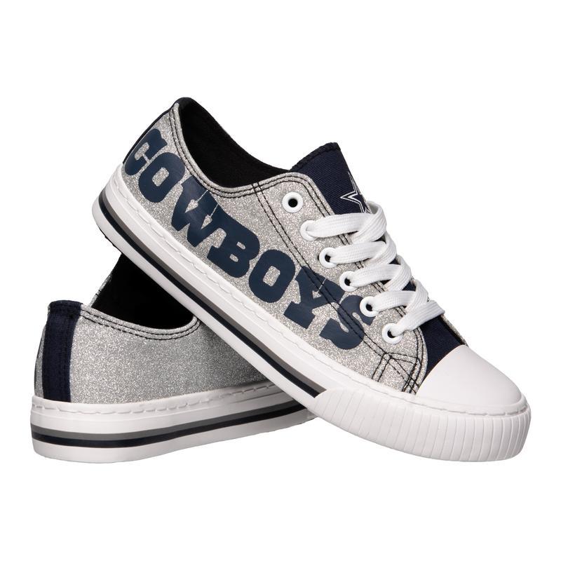 Dallas cowboys NFl glitter low top canvas shoes