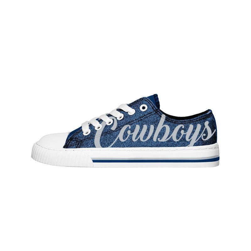 Dallas cowboys NFl low top canvas shoes 1