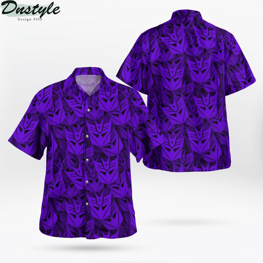 Decepticon transformer hawaiian shirt