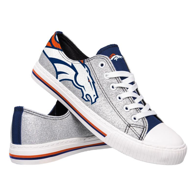 Denver broncos NFL glitter low top canvas shoes