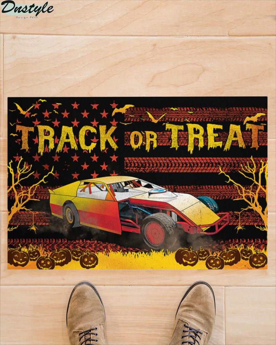 Dirt Track Racing Halloween Gift Track or Treat Doormat 2