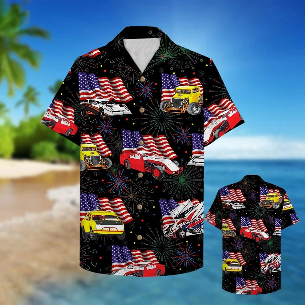 Dirt Track Racing Hawaiian Shirt 1