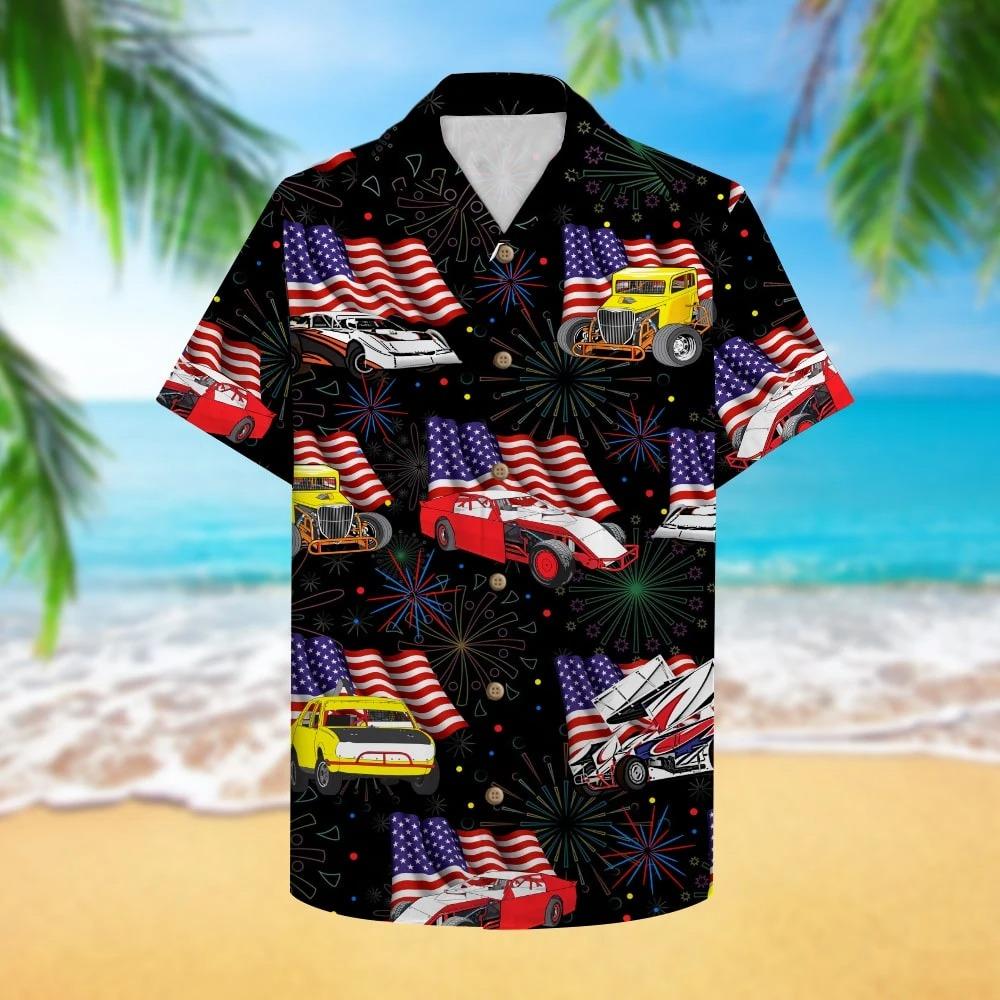 Dirt Track Racing Hawaiian Shirt 2