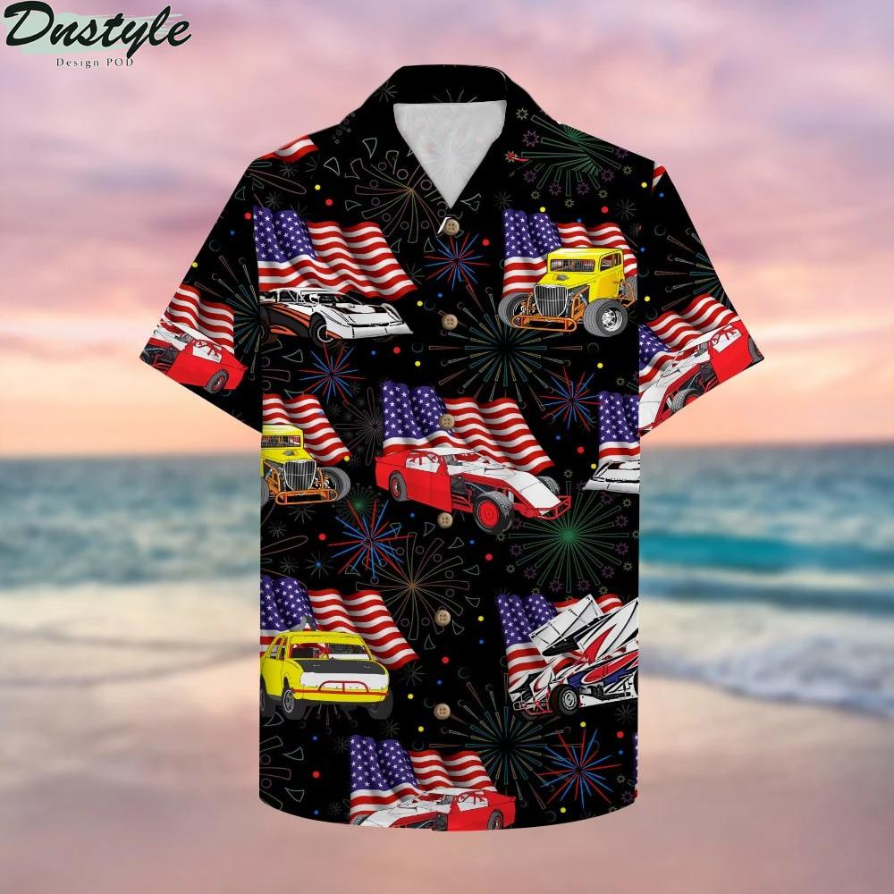 Dirt Track Racing Hawaiian Shirt