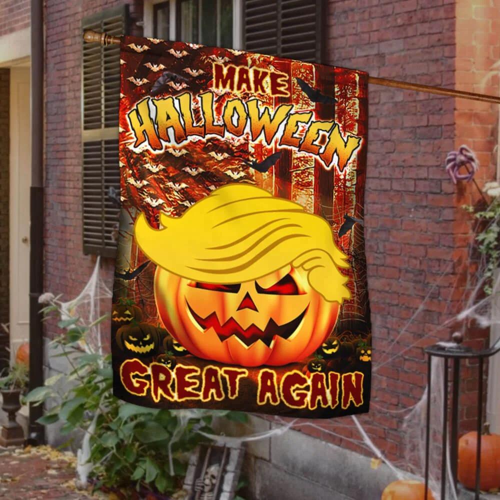 Donald Trump make halloween great again flag 1