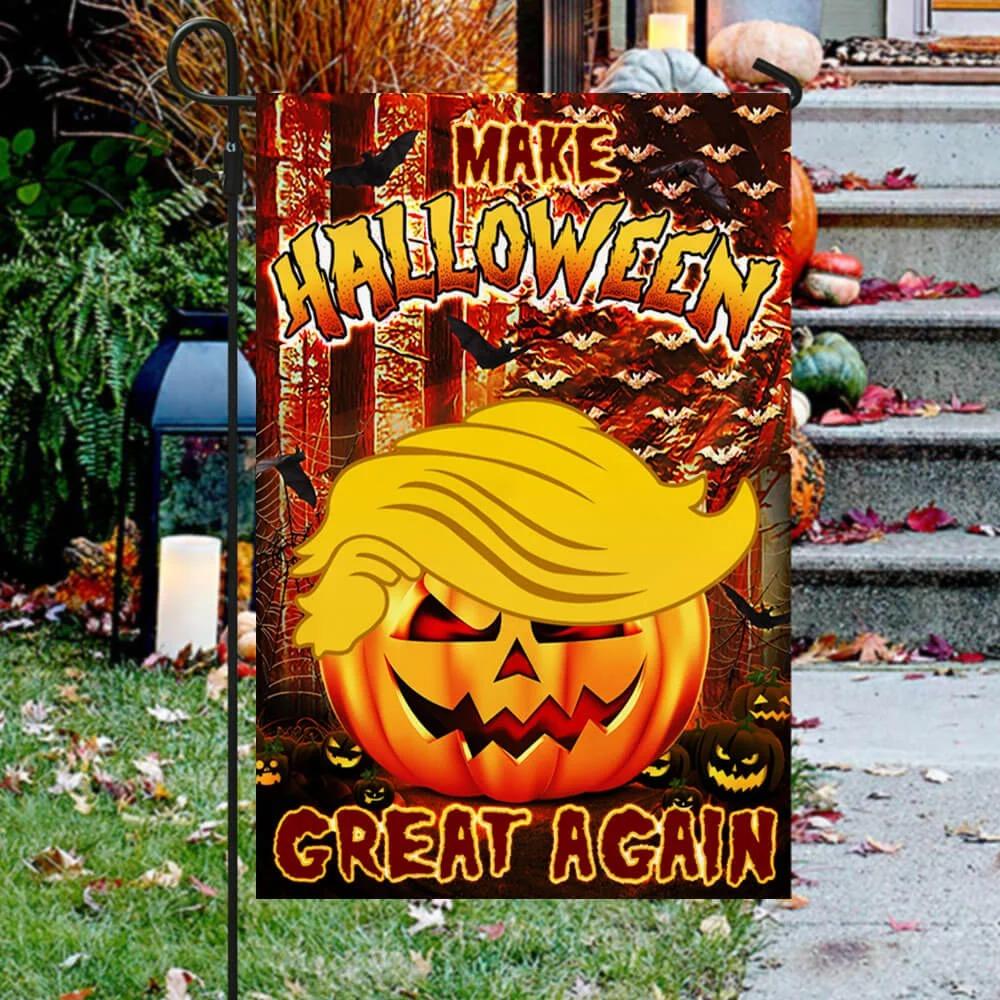 Donald Trump make halloween great again flag 3