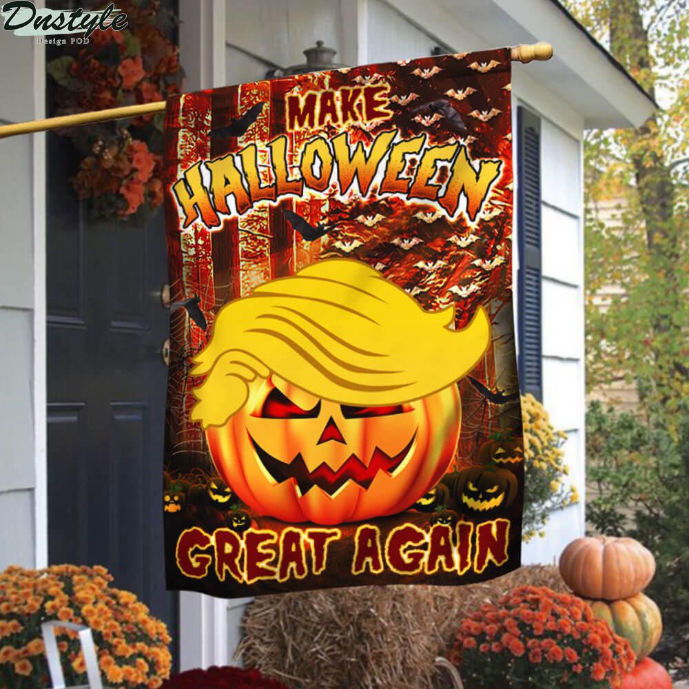 Donald Trump make halloween great again flag