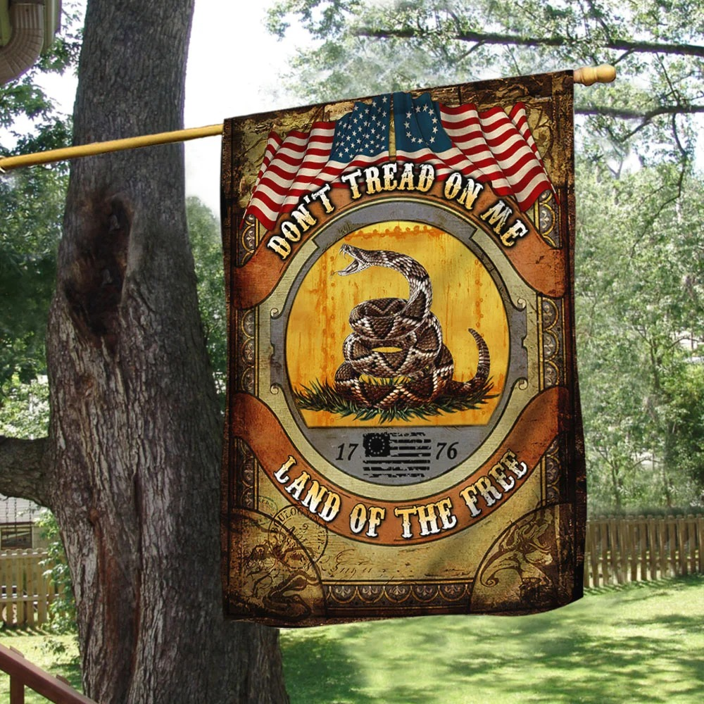 Don't Tread On Me Land of The Free Gadsden Flag 1