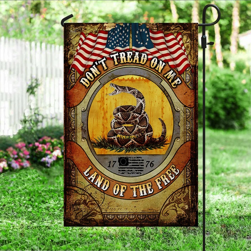 Don't Tread On Me Land of The Free Gadsden Flag 2