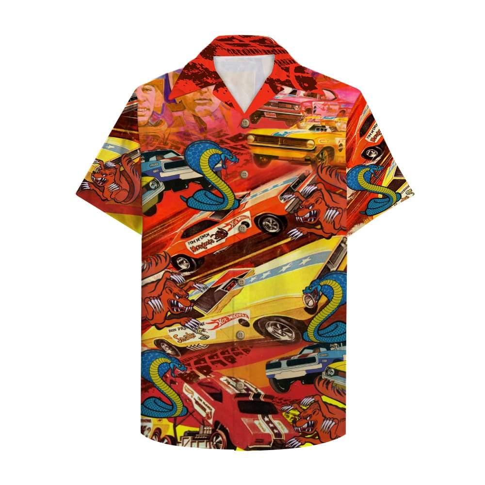 Drag Racing Snake And Mongoose Hawaiian Shirt 1