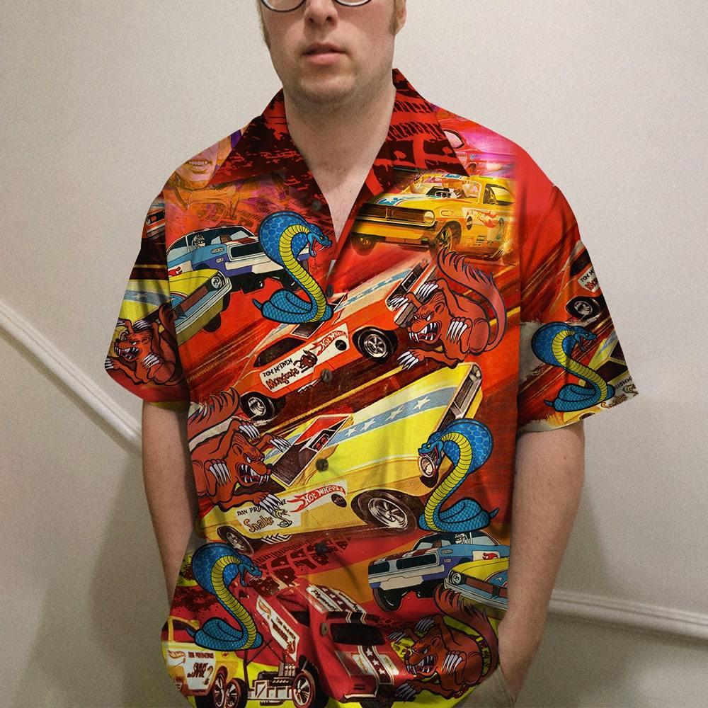 Drag Racing Snake And Mongoose Hawaiian Shirt 2