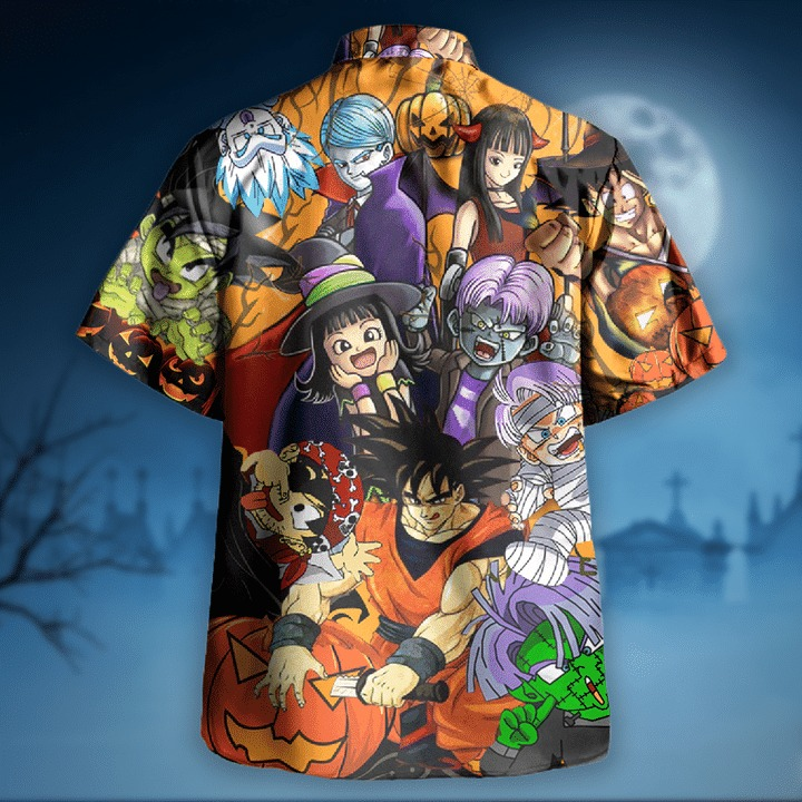 Dragon ball halloween hawaiian shirt 1