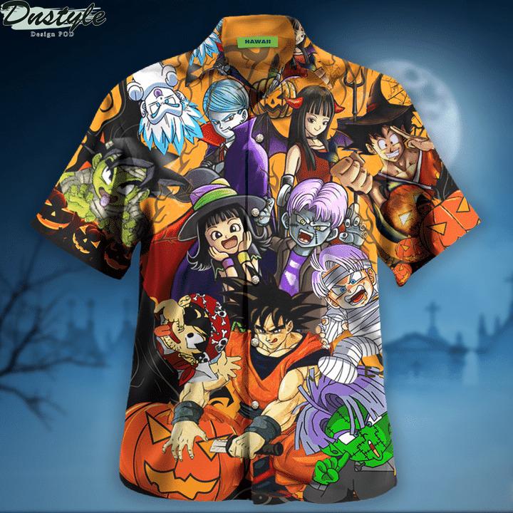 Dragon ball halloween hawaiian shirt