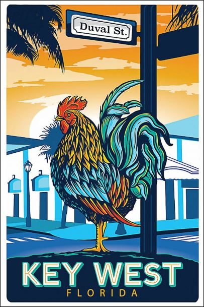 Duval St key west Florida poster