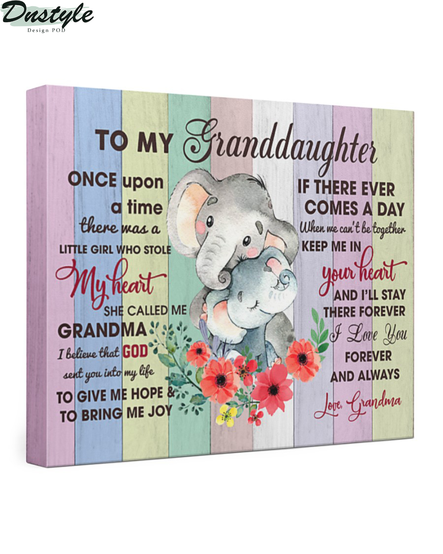 Elephant to my granddaughter once upon a time canvas 2