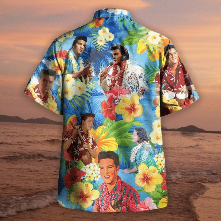 Elvis presley blue hawaiian shirt 2