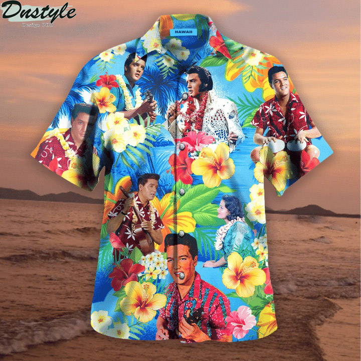 Elvis presley blue hawaiian shirt