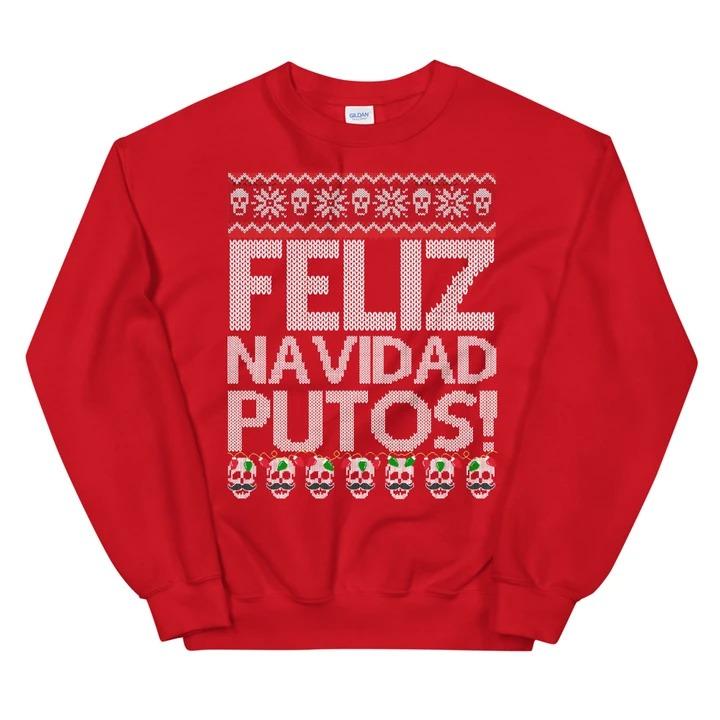 Feliz Navidad Putos Ugly Christmas Sweater 1