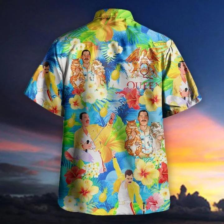 Freddie mercury hawaii cats hawaiian shirt 1