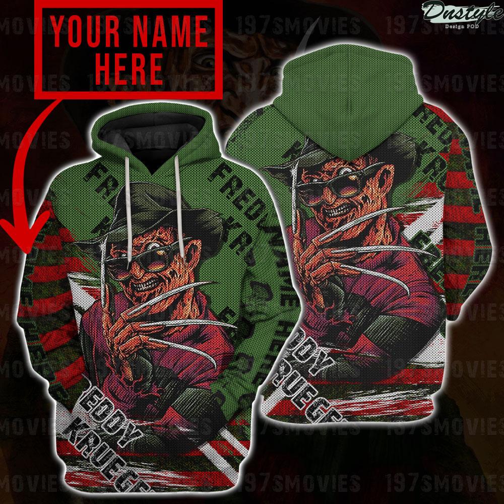 Freddy krueger a nightmare on elm street 3d printed custom name hoodie