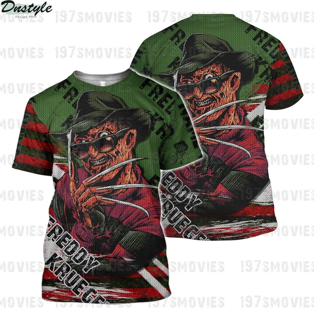 Freddy krueger a nightmare on elm street 3d printed custom name shirt