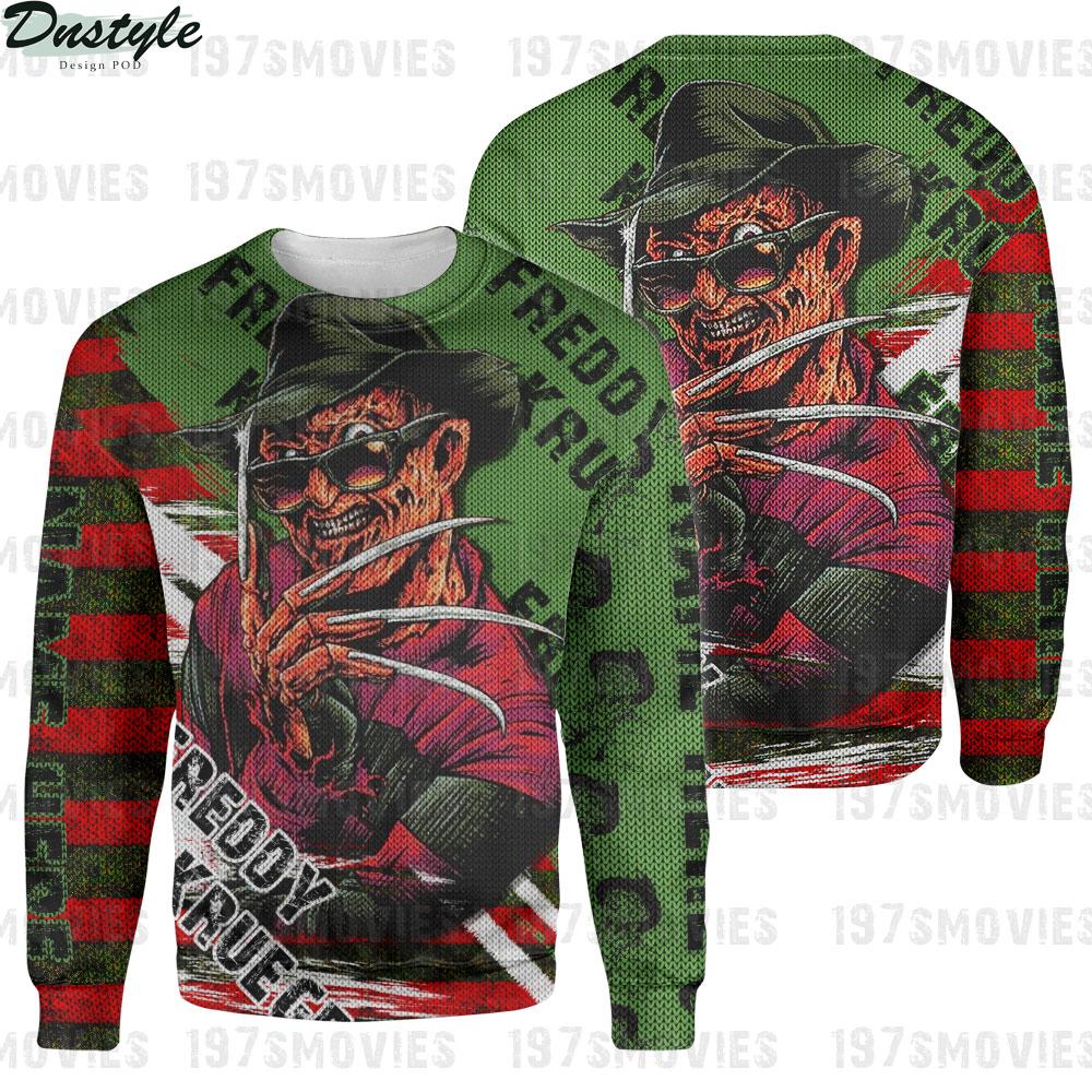Freddy krueger a nightmare on elm street 3d printed custom name sweatshirt