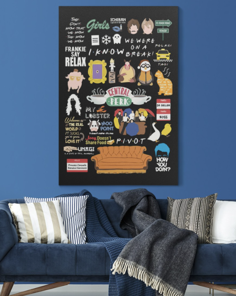 Friends quotes poster