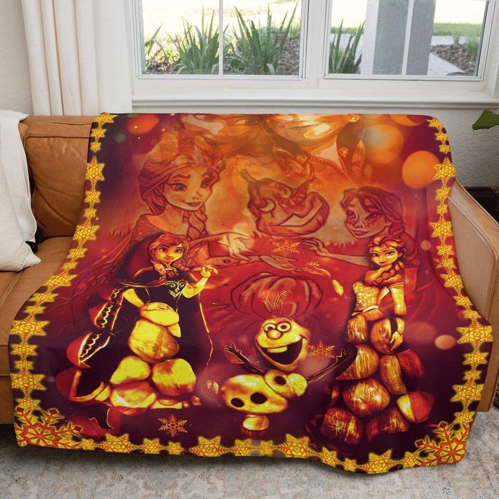 Frozen happy halloween blanket 2