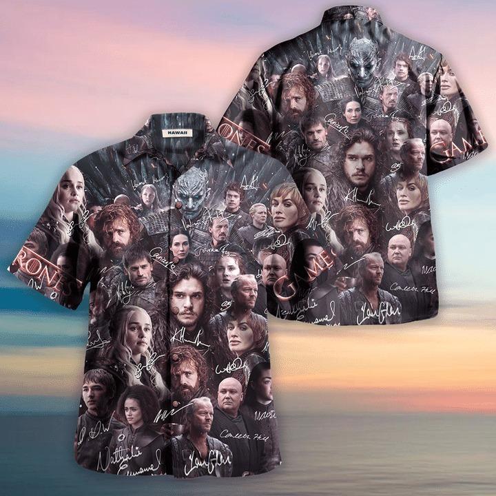 Game of thrones winter is coming unisex hawaiian shirt 2