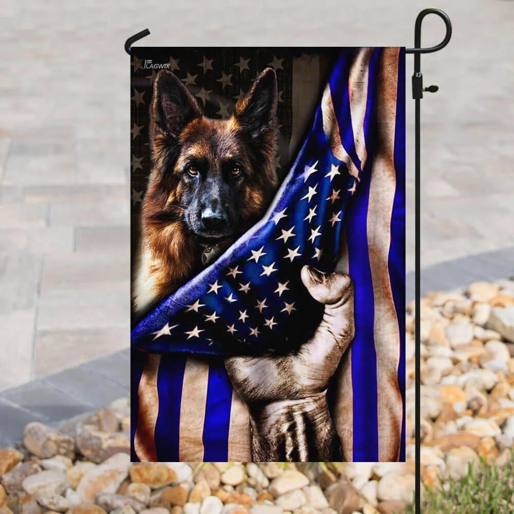 German shepherd police dog the thin blue line flag 2
