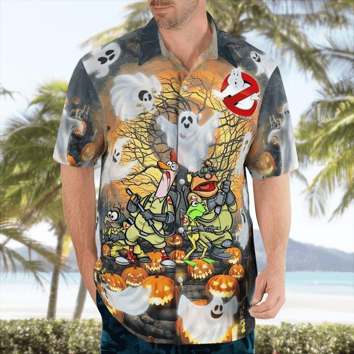 Ghost muppets halloween funny hawaiian shirt 1
