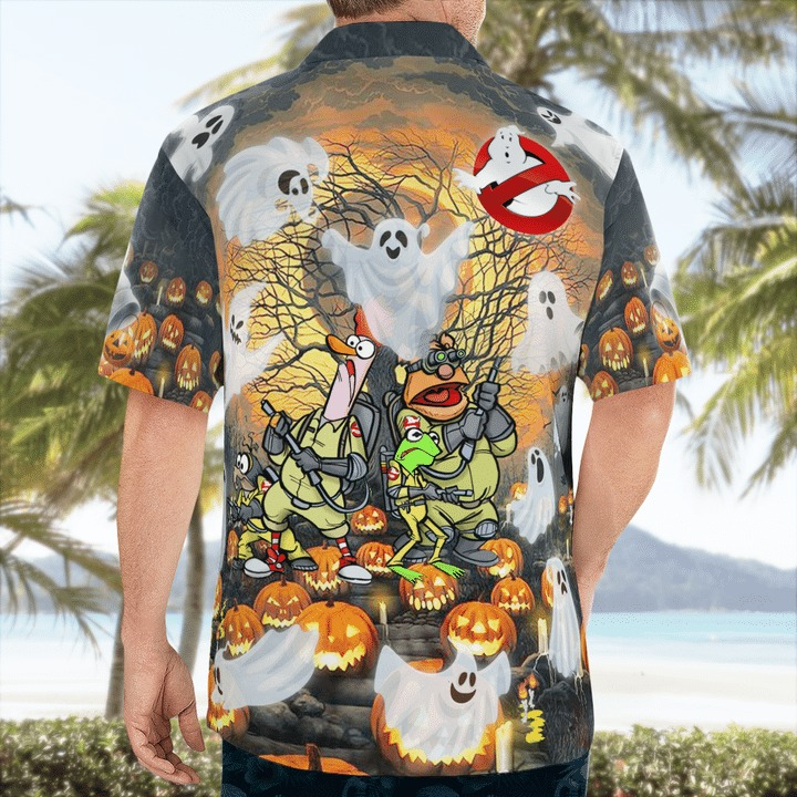 Ghost muppets halloween funny hawaiian shirt 2