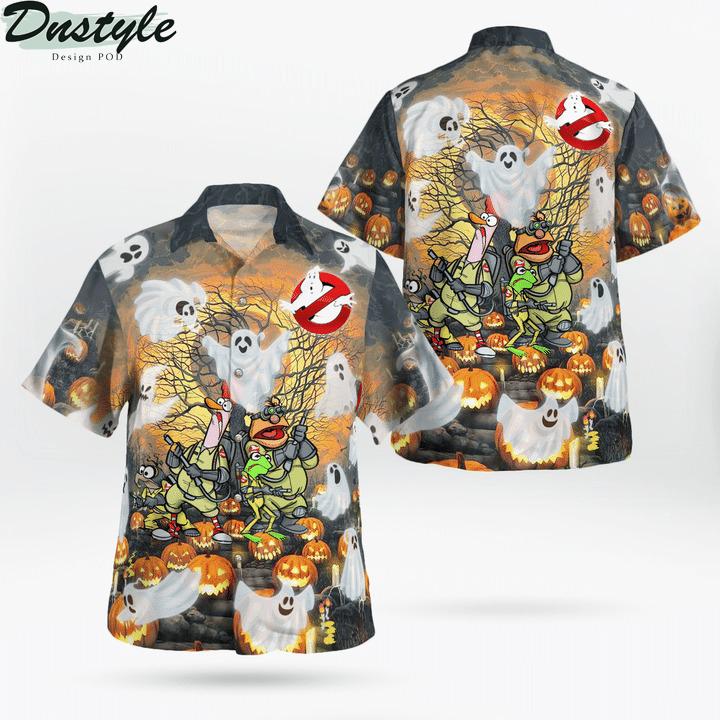 Ghost muppets halloween funny hawaiian shirt