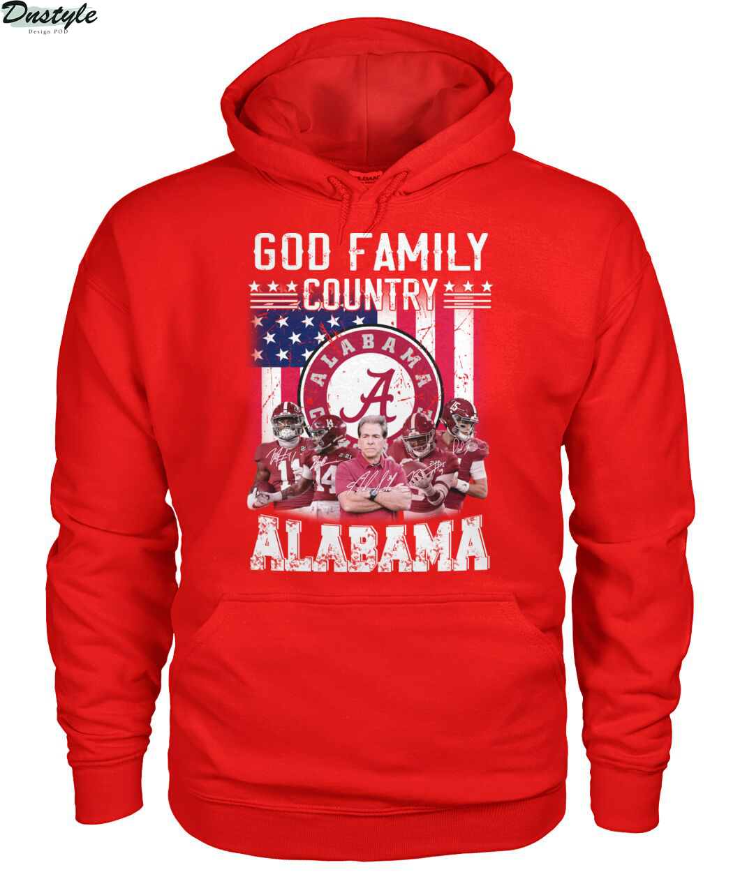 God family country Alabama crimson tide american flag hoodie