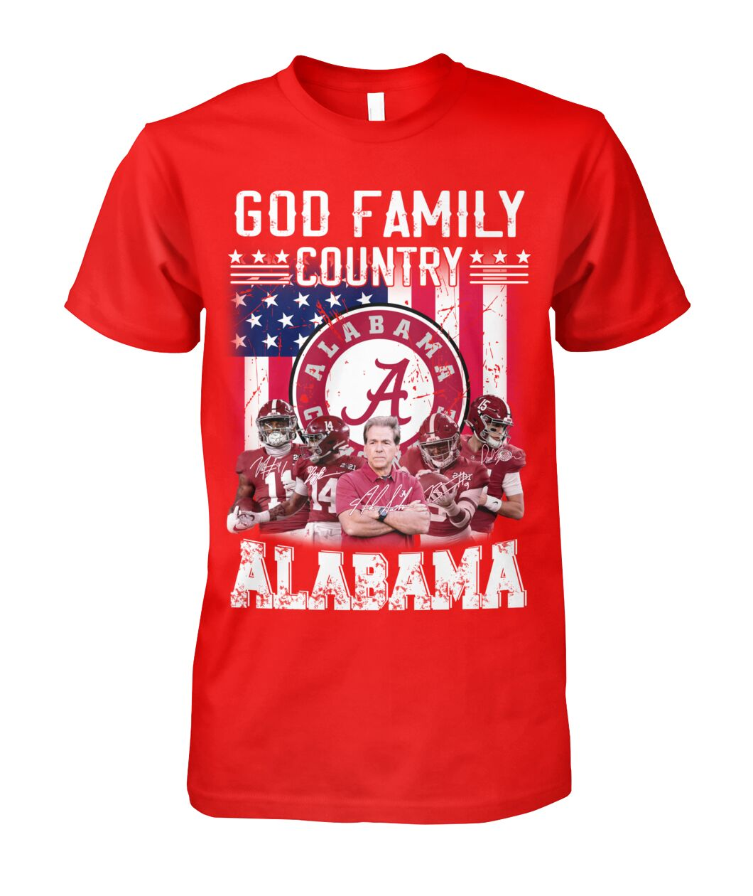 God family country Alabama crimson tide american flag shirt