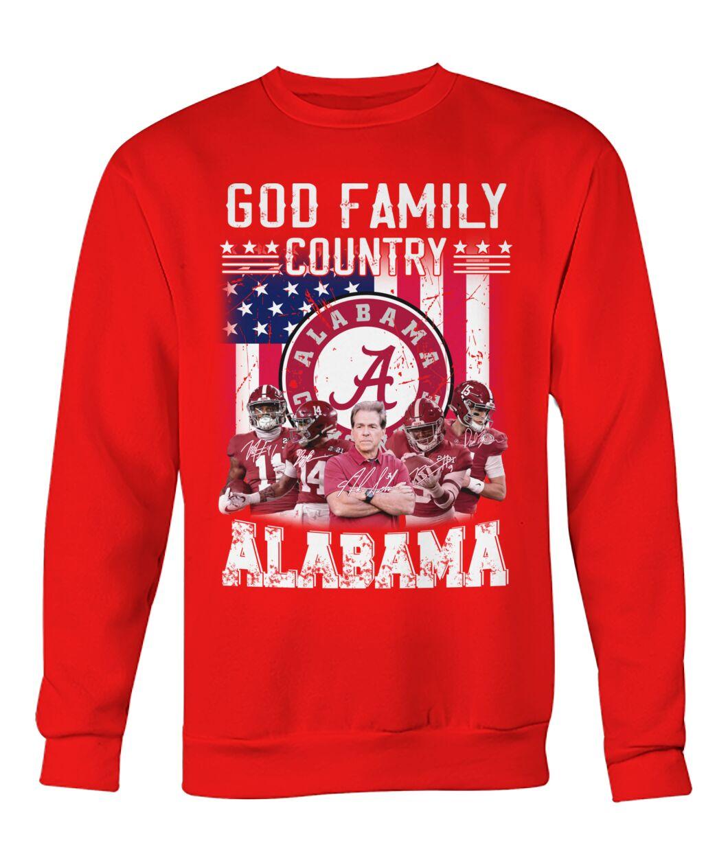 God family country Alabama crimson tide american flag sweatshirt