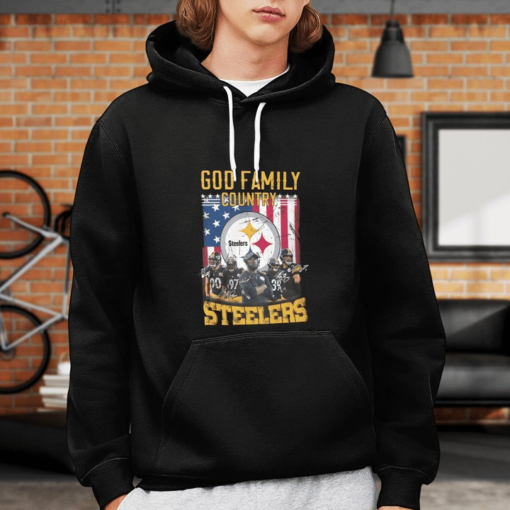 God family country Pittsburgh Steelers hoodie