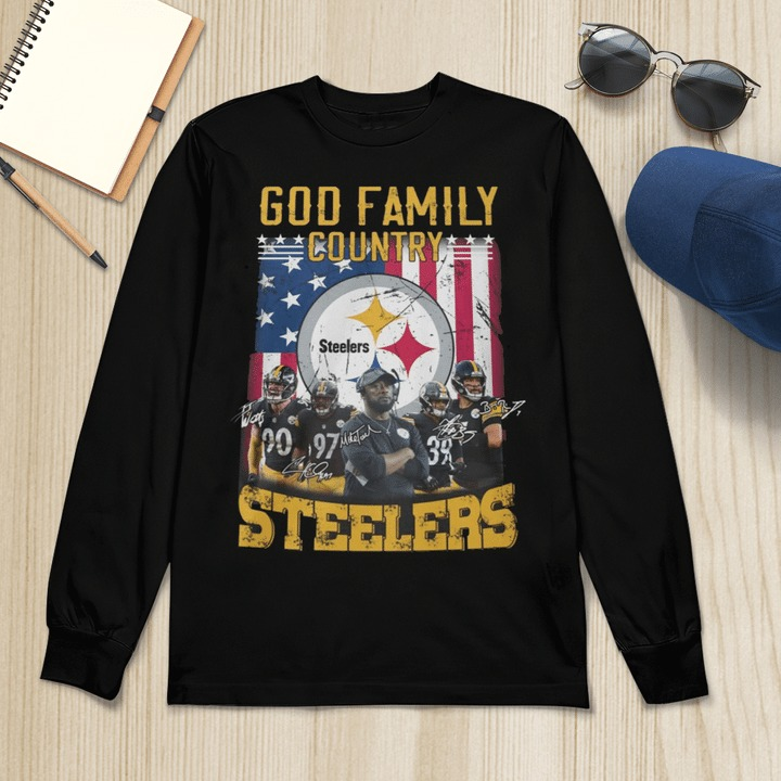 God family country Pittsburgh Steelers long sleeve