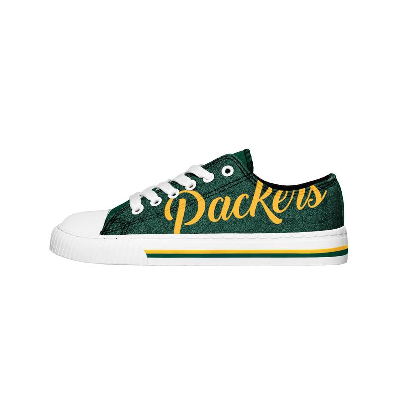 Green bay packers NFL low top canvas shoes 1