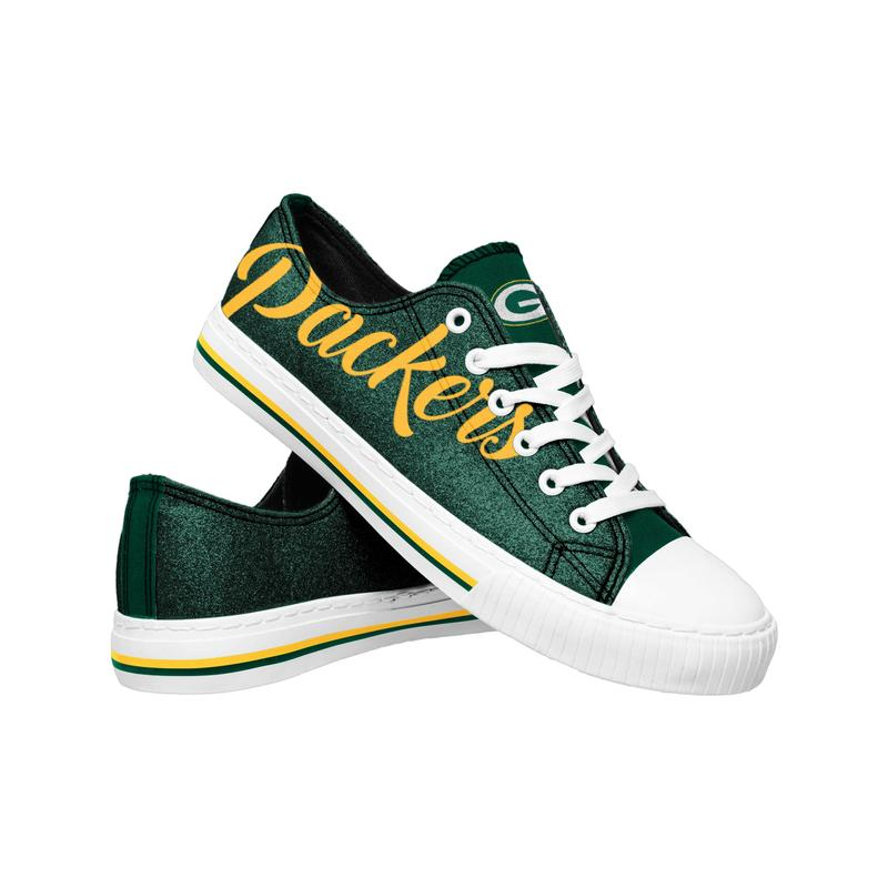 Green bay packers NFL low top canvas shoes