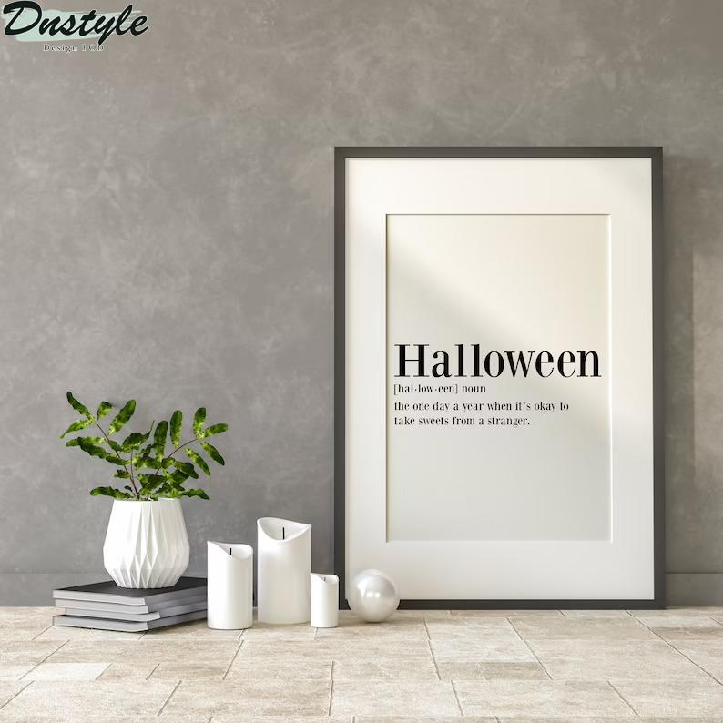 Halloween definition poster 2