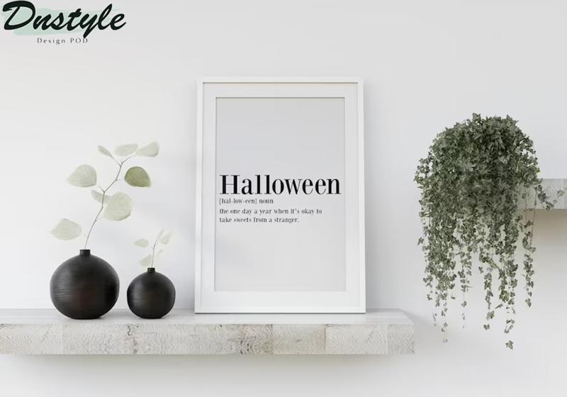 Halloween definition poster 3