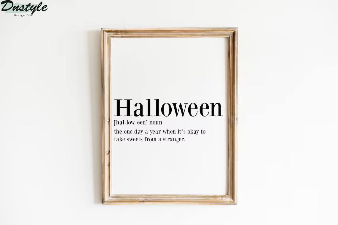 Halloween definition poster