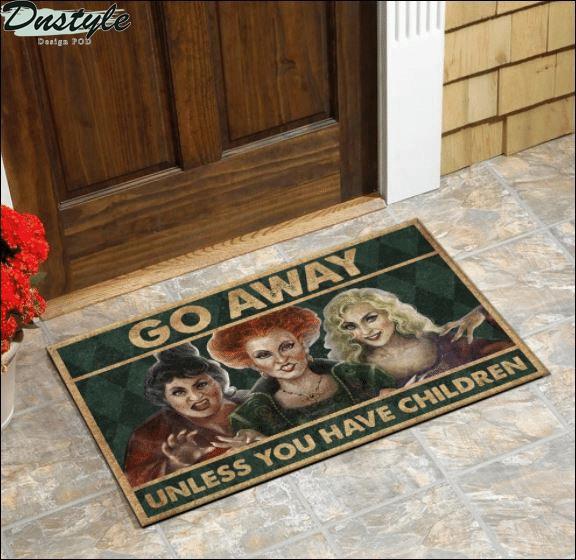 Halloween hocus pocus go away unless you have children doormat 1