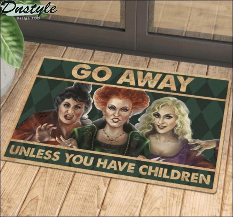 Halloween hocus pocus go away unless you have children doormat